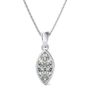 Jewelry - 1 Cts Bezel Set Marquise Solitaire Diamond Pendant